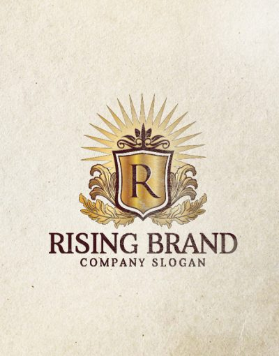 rising brand logo template