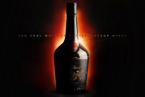 Red Seal Whiskey Bottle Mockup N1969 PROMO CM