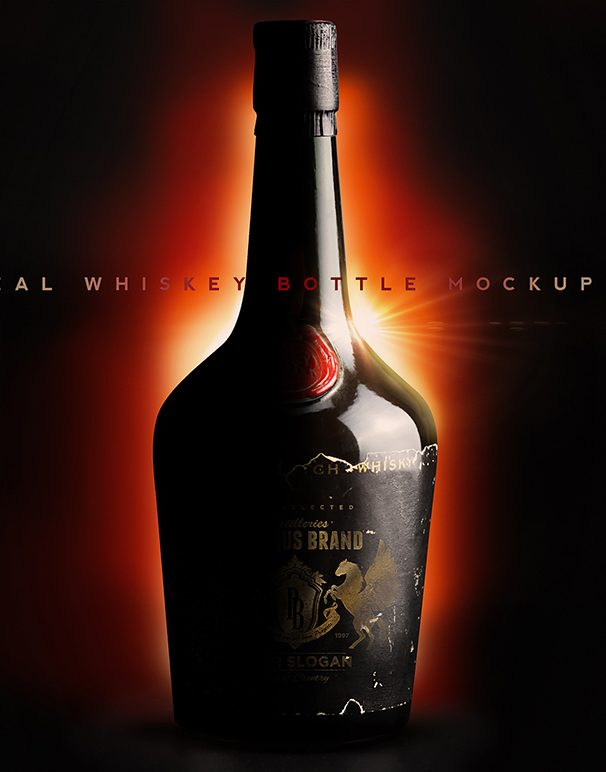 Red Seal Whiskey Bottle Mockup N1969 PROMO CM