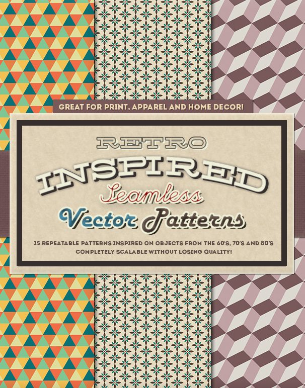 Retro Inspired Vector Patterns preview retro square ALTERNATIVE-smallfilesize