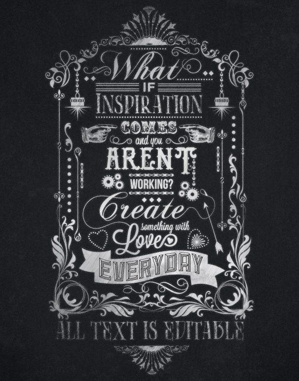 Creative Inspiration Working Chalkboard Print