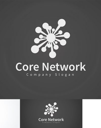 Core Network main logo black white