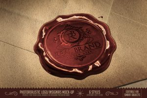 wax seal identity calligraphy stamp mockup