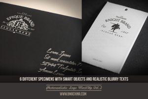 Caligraphic and Realistic Logo Mockup V2 promo 5