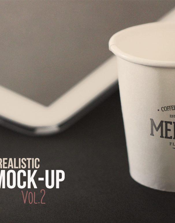 Caligraphic and Realistic Logo Mockup V2