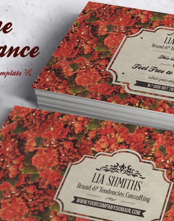 vintage fragrance business card Creative Market Default Preview