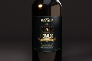 Beer Bottle Mockup CLOSEUP