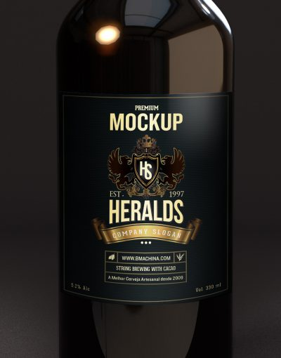 Beer Bottle Mockup CLOSEUP