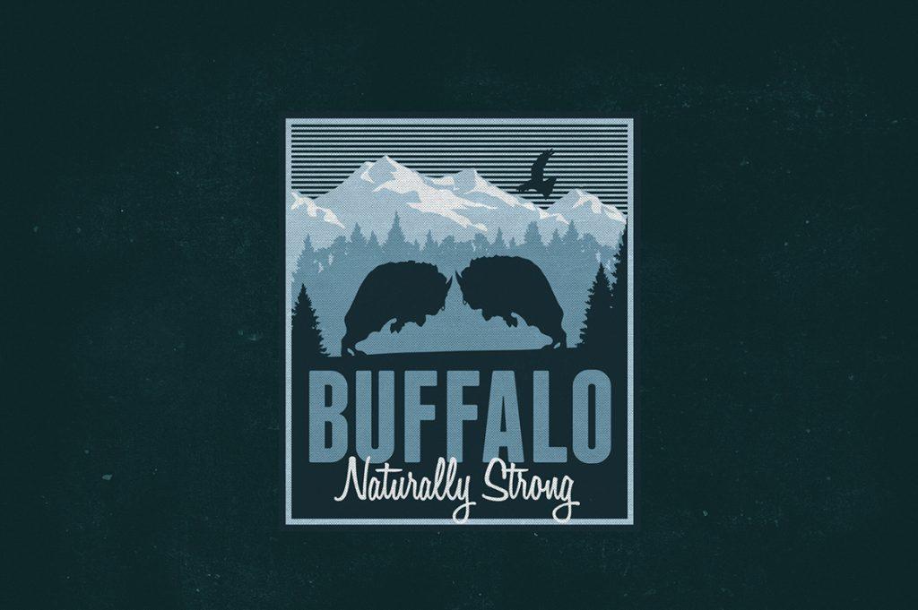 Distressed Buffalo Logo