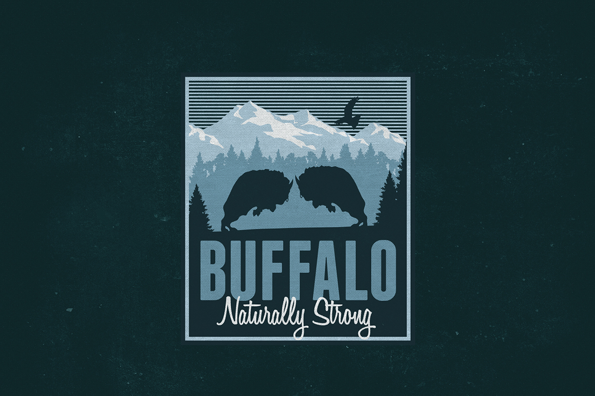 Distressed Buffalo Logo
