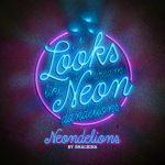 Dreamdelion hand drawn script font neon neondelions