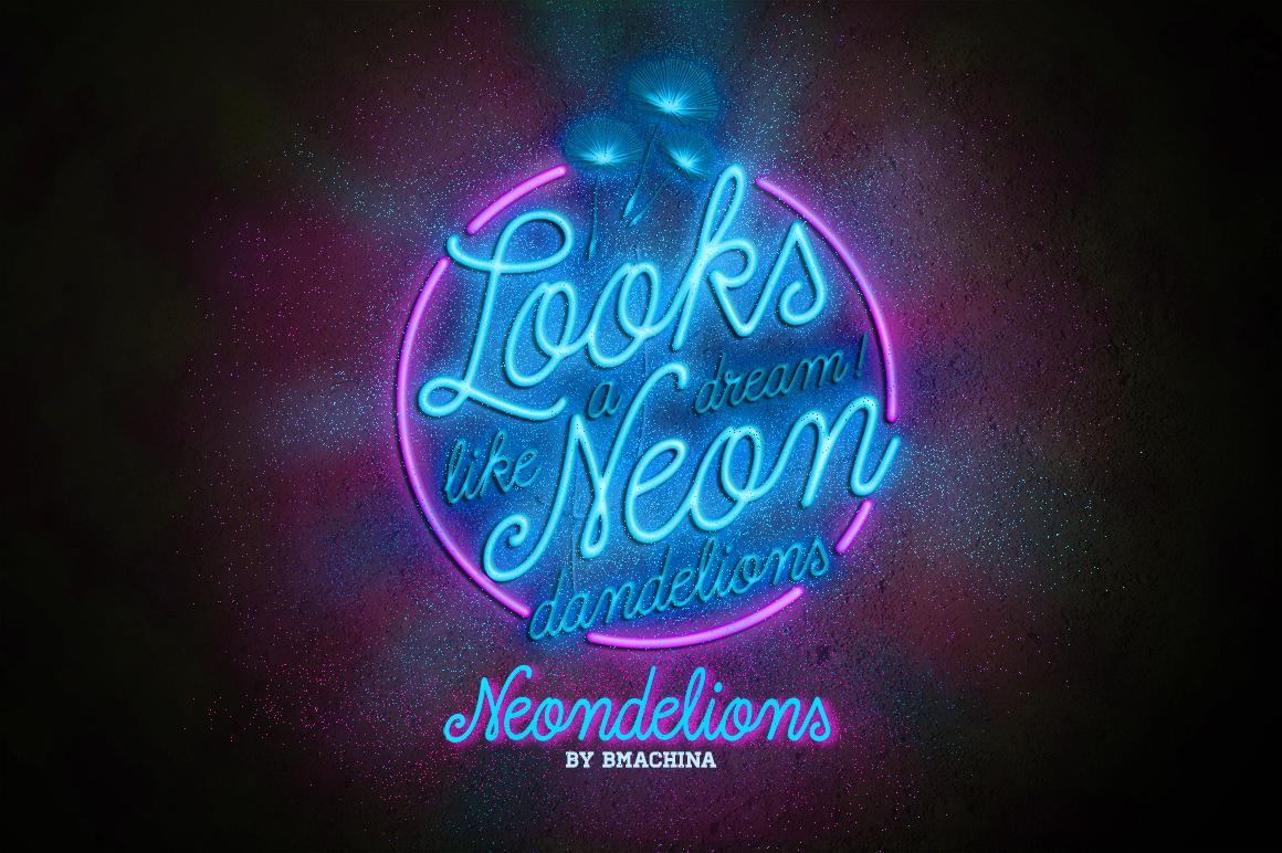 Dreamdelion Script Neon