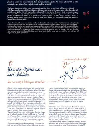 Dreamdelion hand drawn script font