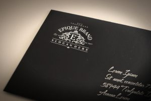 Epique Brand Logo Creative BM - 1160 - black envelope