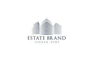Estate Brand Color Letterpress white