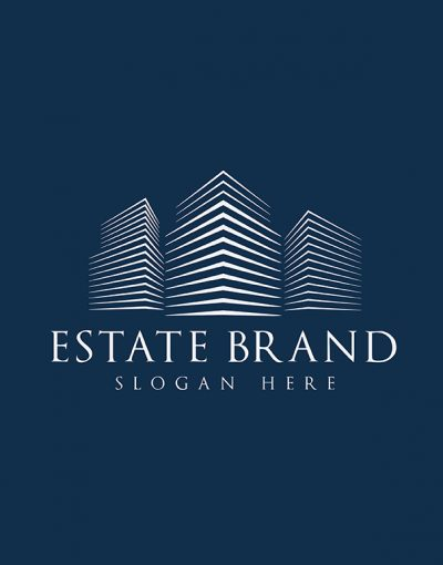 Estate Brand Color Letterpress blue