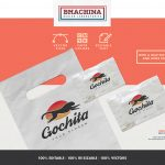 go chita logo fast animal preview template bags logo mockup