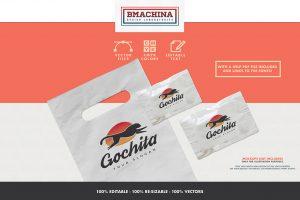 go chita logo fast animal preview template bags logo mockup