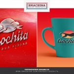 go chita logo fast animal preview template couple tea coffe mugs logo mockup