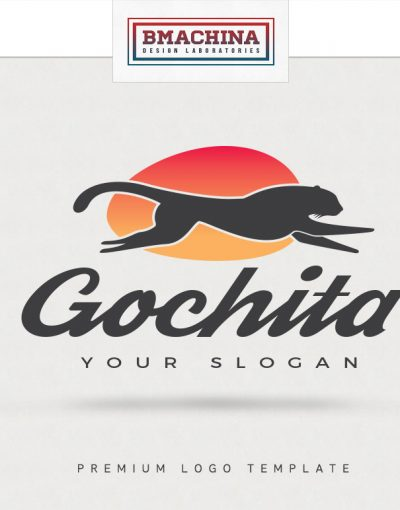 go chita logo template creative market by bmachina design works fast animal