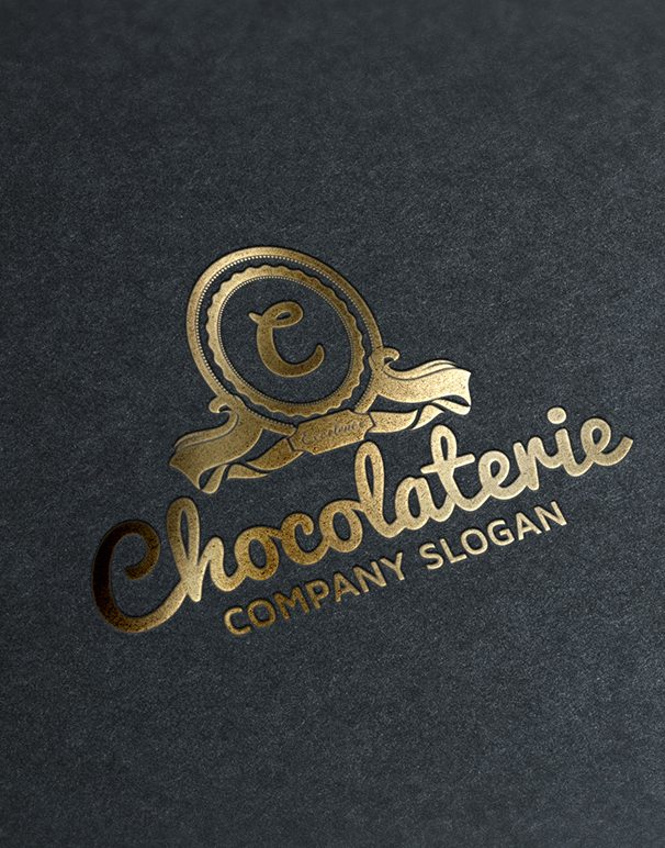 Gold Stamping Chocolaterie Logo