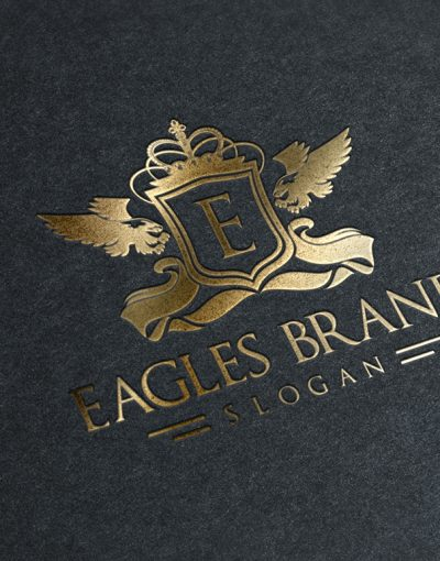 Eagles Brand Logo Template Gold Stamping creative market