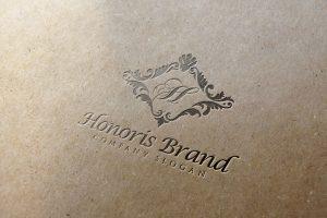 Honoris Letter Press Logo CM