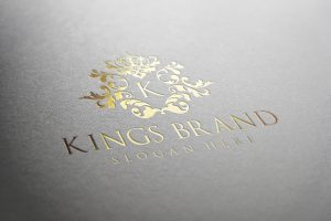 Kings Brand Logo Luxury Gold