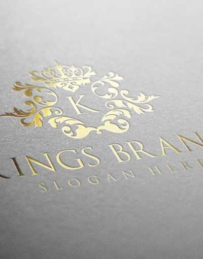 Kings Brand Logo Luxury Gold