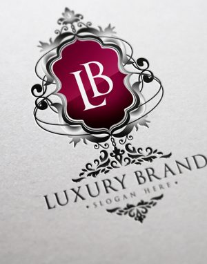 Luxury Brand Logo Template by bmachina labs red side promo brand display