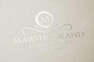 Majestic Brand Logo Luxury Gold