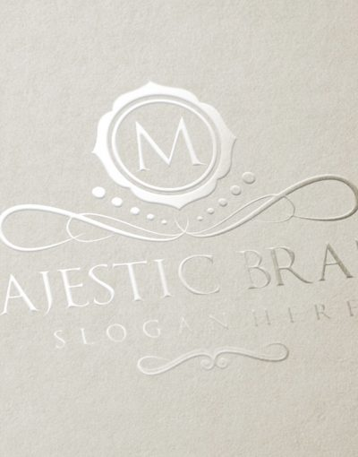 Majestic Brand Logo Luxury Gold
