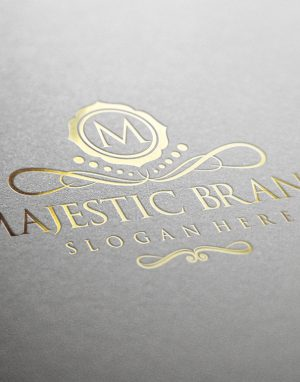Majestic Brand Logo Luxury Gold 1160