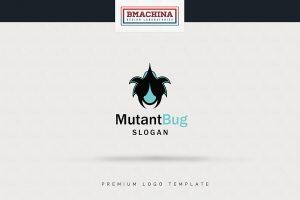 Mutant Bug logo security template creative market bmachina store main image