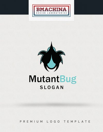 Mutant Bug logo security template creative market bmachina store main image