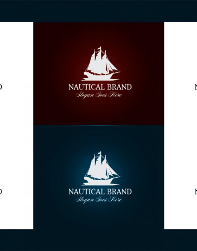 Nautical Brand Letterpress Logo MockUp #2