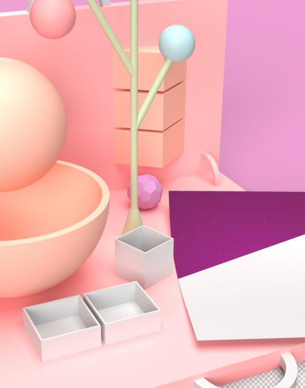 geometric stationery mockup