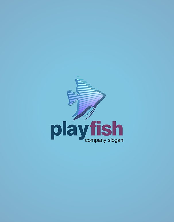Play Fish Logo design