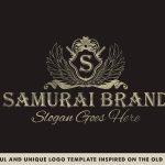 samurai brand logo template