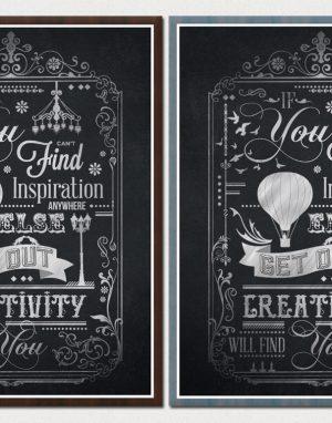 Creative Typography Chalkboard Print 4