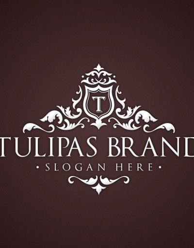 creative market white tulipas logo template