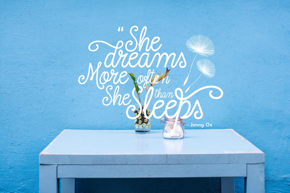 dreamdelion font script
