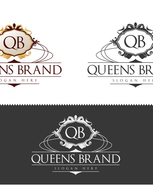 queens brand logo template geral all