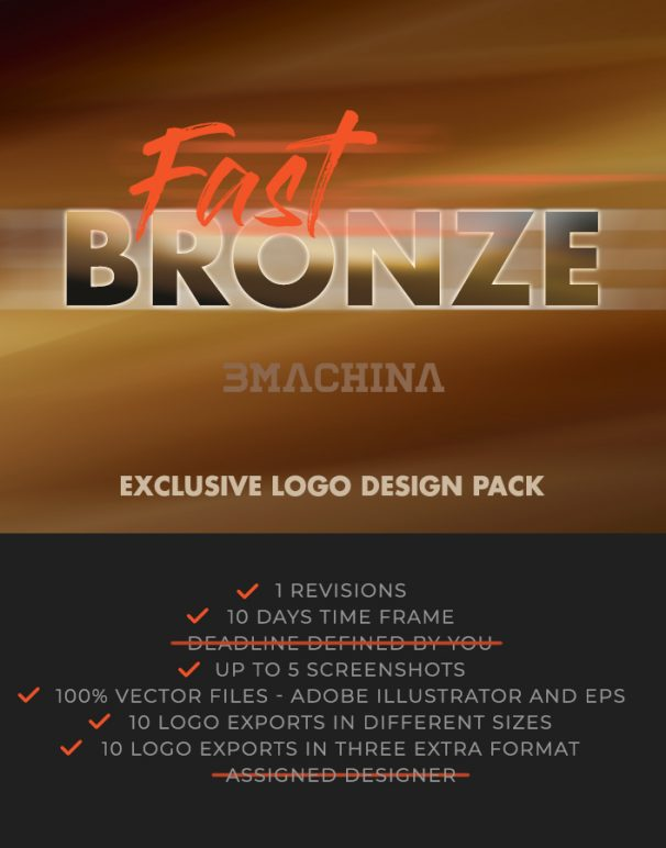 bronze fast briefing exclusive logo design pack by bmachina