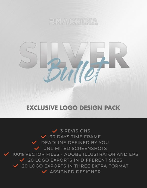 silver bullet briefing exclusive logo design pack by bmachina