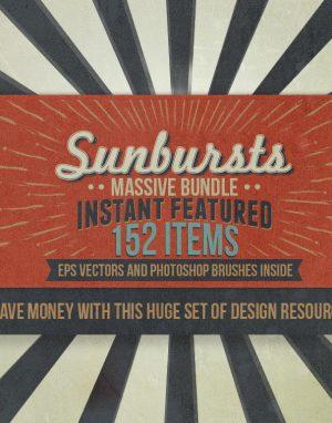 152 Sunbursts Bundle - Instant Feature by BMACHINA Labs