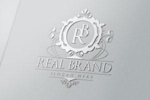 real brand silver mockup envato