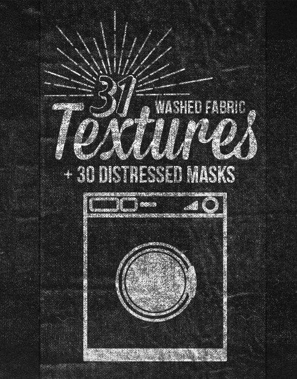 washed fabric textures Creative market promo main