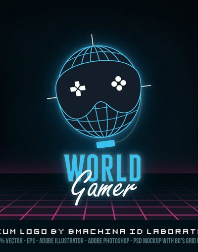 world gamer world logo symbol mark net party lan competitive